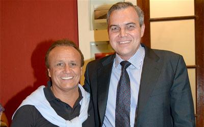Gustavo Ick junto a Miguel Del Sel