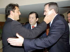 Gustavo Ick y Sergio Massa
