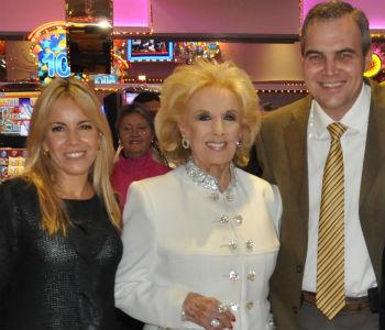 Gustavo Ick junto a Mirtha Legrand